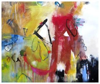 """acrylic on canvas (stretched)   39""""h x 46""""w   $2530"""