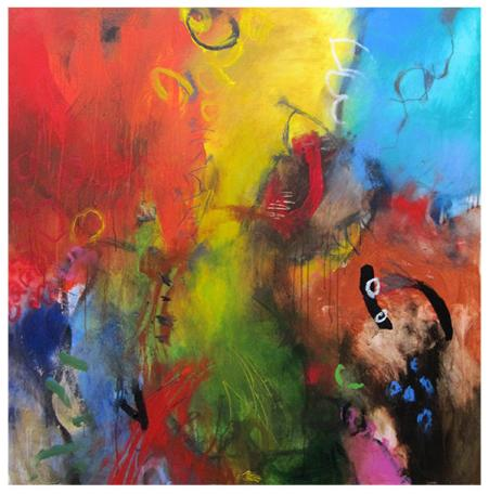 "acrylic on canvas | 50"" x 51"" | Not Available"