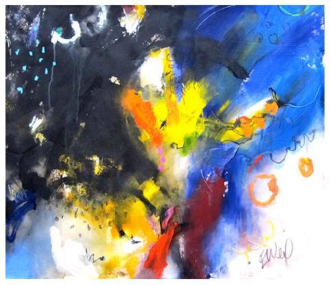 """acrylic on canvas   46.5"""" x 43""""   $2600 (no edge on canvas)"""