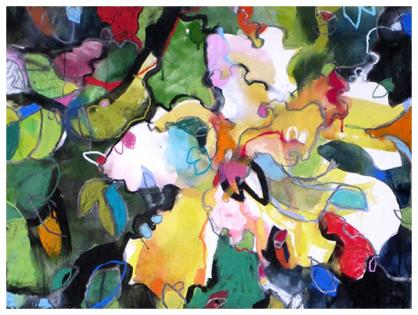 """watercolor, pastel on paper   22"""" x 30""""   SOLD"""