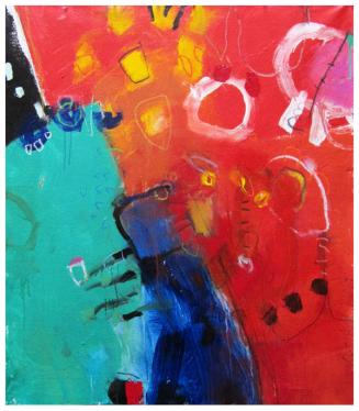 "acrylic on canvas | 46""h x 40""w | $2395 (no canvas edge)"