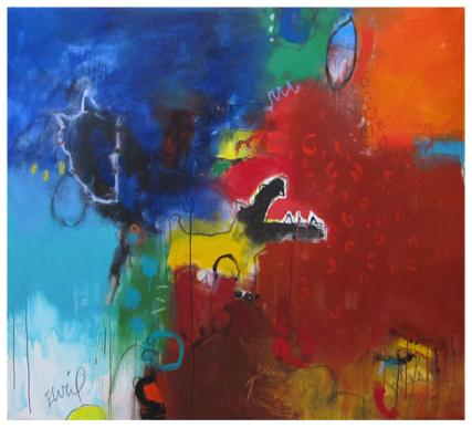"""acrylic on canvas   57"""" x 62""""   $4900 (stretched)"""