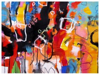 """watercolor, acrylic, India ink on paper   22""""h x 30""""w   $795"""