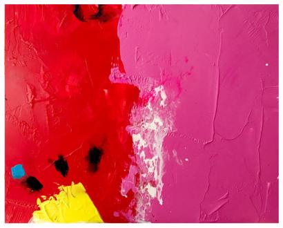 "acrylic, oil pastel on claybord | 8"" x 10"" | $100"