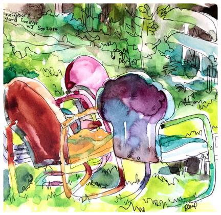 "watercolor, pen on paper | 8"" x 8"" | $80"