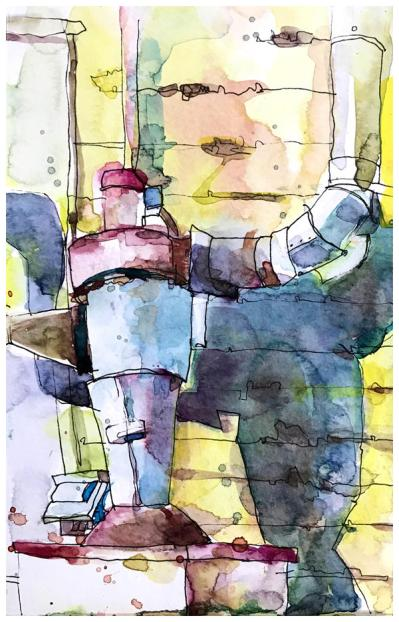 "watercolor sketch on paper | 8.5"" x 5.5"""
