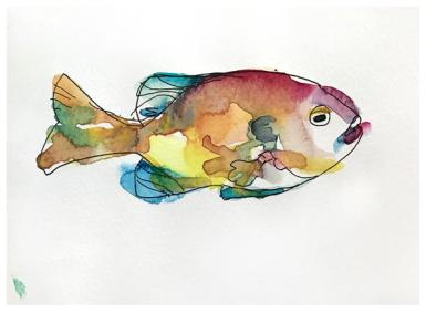 "Watercolor & ink sketch   5.5"" x 8.5   SOLD"