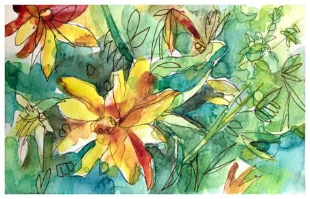 """watercolor sketch on paper   5.5"""" x 8.5""""   $60"""