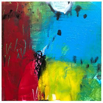 "acrylic, India ink on claybord | 8"" x 8"" | $80"