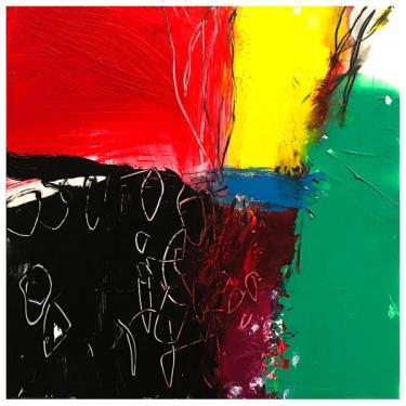 "acrylic, ink on clayboard | 12"" x 12"" | $185"