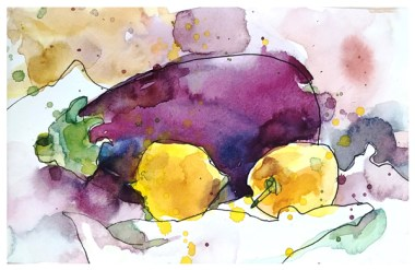 "watercolor, pen on paper | 5"" x 8"" | $50"