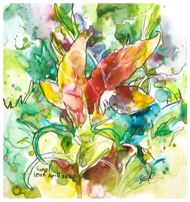 "watercolor, pen on paper   7.5"" x 7.5""   $75"