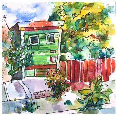 "watercolor, pen on paper | 10"" x 10"" | $130"