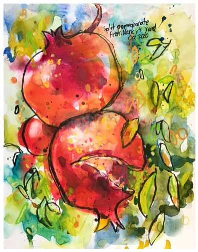 """watercolor, pen, acrylic ink on paper 
