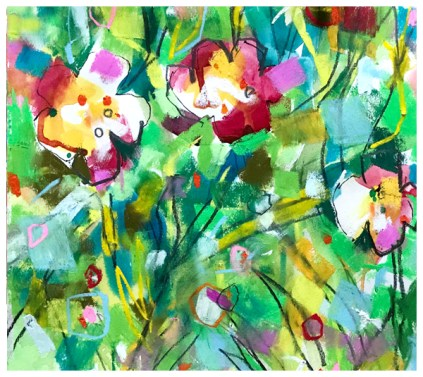 watercolor painting of wildflowers by emily weil