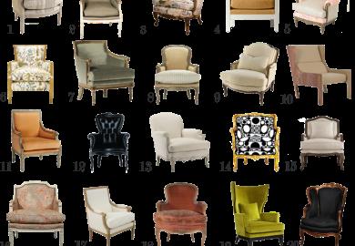 Modern Bergere Chair