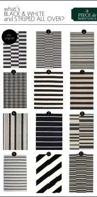 Black & White Striped Rugs | The Anatomy of Design