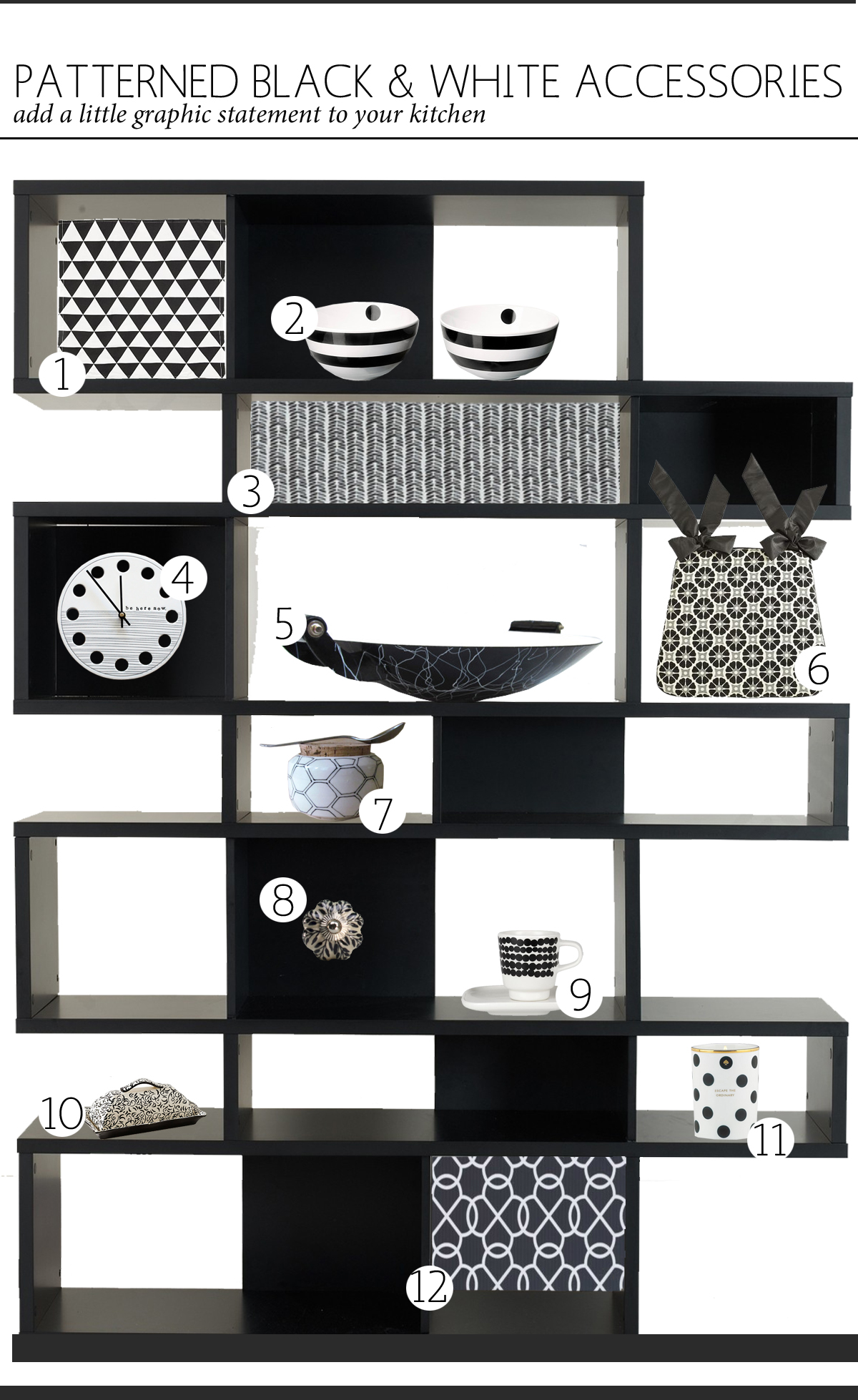 black and white kitchen accessories handmade islands the anatomy of design