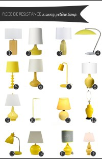 Yellow Table Lamp | The Anatomy of Design