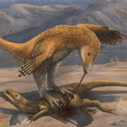 Deinonychus Prey Restraint – Emily Willoughby Art