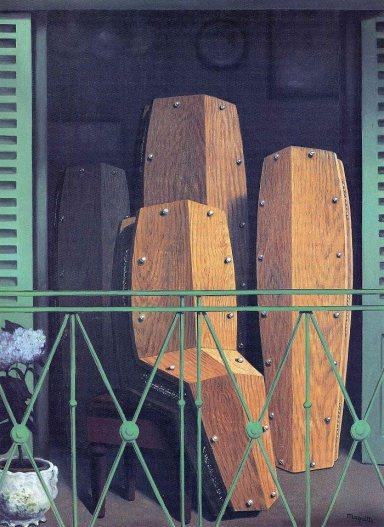 Manet's Balcony, Rene Magritte, 1950