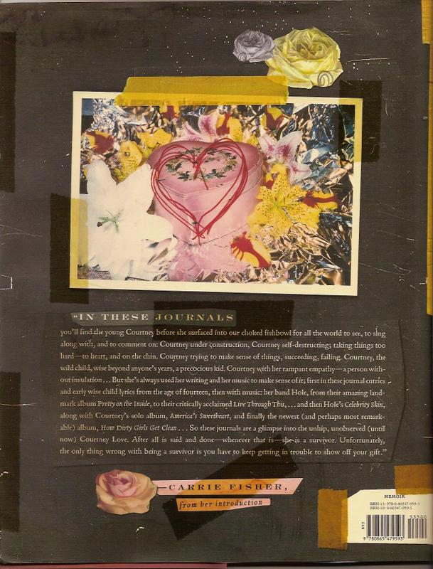 Caption: Back cover of Love's book.