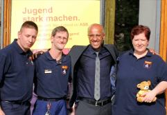 Emin da Silva und sein Begleitteam: Corinna Dankenbrink, Christoph Mau und Michael Wöhlke.