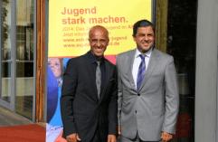 Emin da Silva und Sponsor Bülent Uzuner. www.daserstebuch.de / www.uzuner-consulting.de