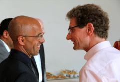 Emin da Silva und ASB-Landesgeschäftsführer Jürgen Lehmann.