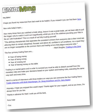 EminiMind - Newsletter