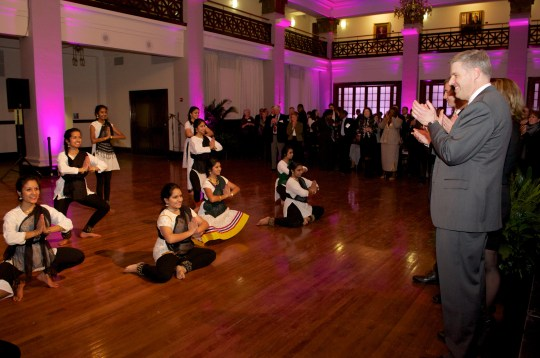 Indian Dancers with Chancellor Gallagher