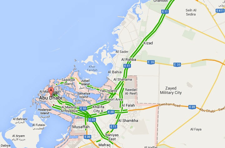 abu dhabi traffic live