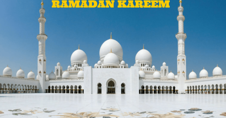 Ramadan Kareem to all my readers!