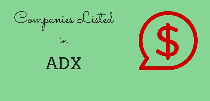 Listed Companies in Abu Dhabi Securities Exchange- ADX (List)