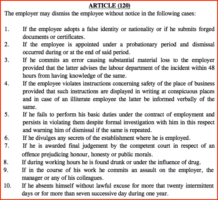 termination papers for employees