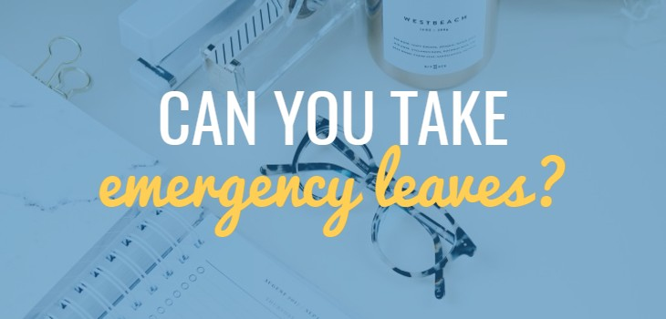 Can you take 'Emergency Leaves' in UAE?