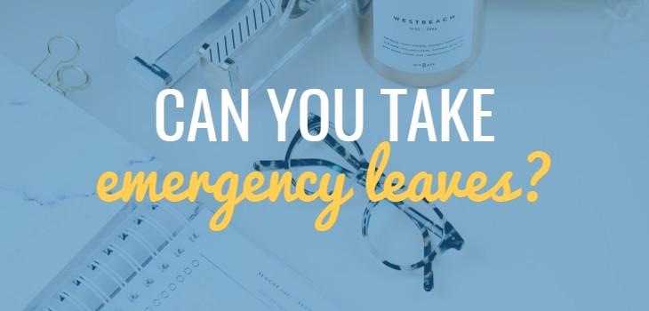 Can you take 'Emergency Leaves' in UAE?