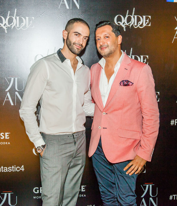 The ever dapper Ayman Fakoussa and Dipesh Depala, Managing Partners at The Quode