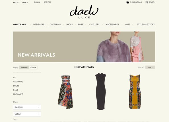 Luxe online shopping