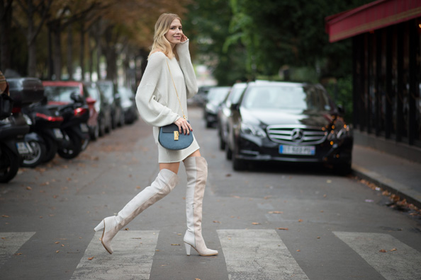 Elena Perminova snug and warm in Chloe.