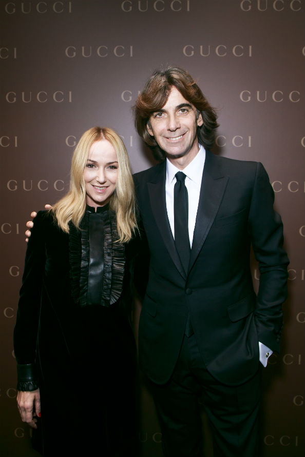 Patrizio di Marco and his partner, the brand's creative director, Frida Giannini