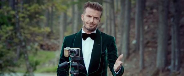 David Beckham in his Haig Club advert