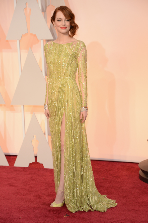 Emma Stone wearing Elie Saab Couture  at the Oscars.