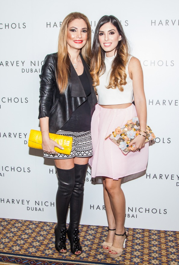 Lina and Tala Samman HARVEY NICHOLS, EVENT, SPRING SUMMER 2015