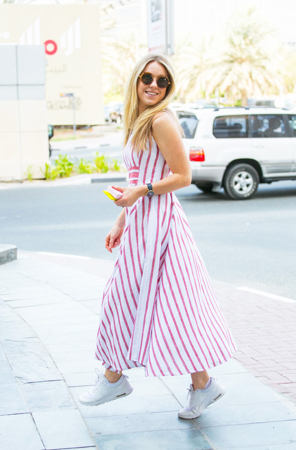 Jade Ew wearing stripes