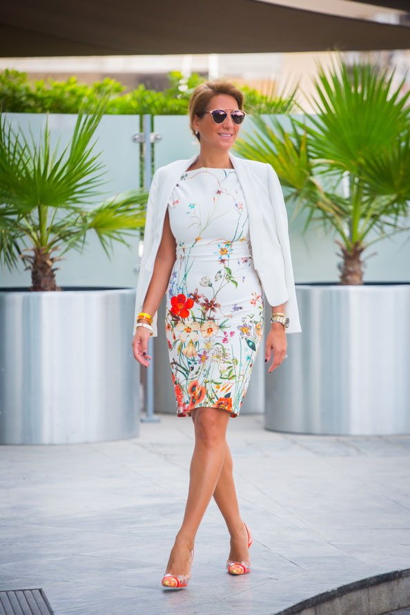 Negar Ghodstinat Ew Wearing, Floral Zara DRess