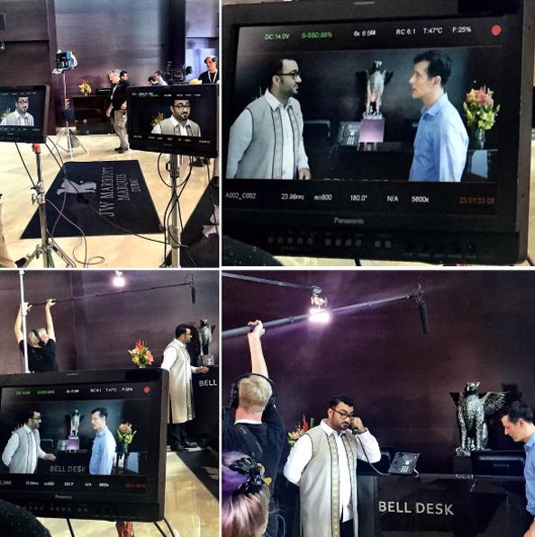 Ali Al Sayed Freida Pinto Shoots Two Bellman Two In Dubai