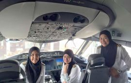 Royal Brunei Airlines' First All-Female Flight Deck Lands In Saudi