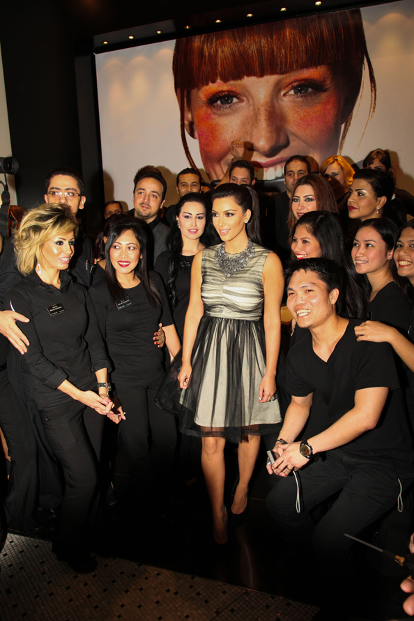 Kim Kardashian appears during the Sephora store appearance at Dubai Mall on October 15, 2011