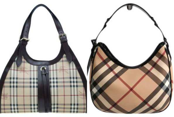 "23373a2cd77a ""The two most popular Burberry patterns are the Classic Check (left) and  the Nova Check (right). The Classic Check has a tan background, with black,  ..."